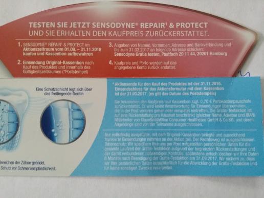 Sensodyne Repair & Protect - 100% Geld - Zurück