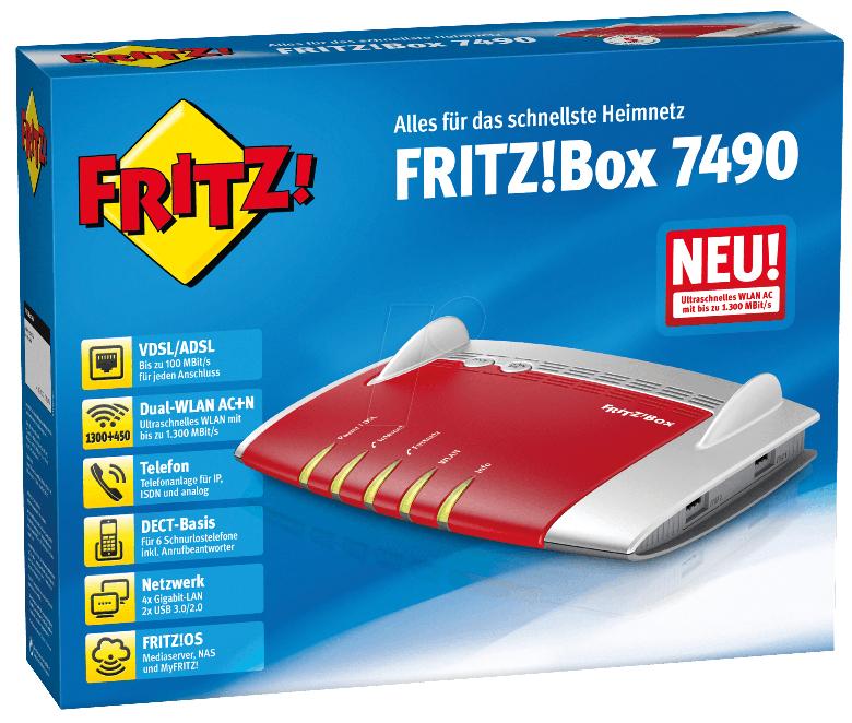 [SATURN, Bundesw. Versand] AVM FRITZBox 7490 WLAN-Router, 5 Jahre Garantie *Vorkasse*