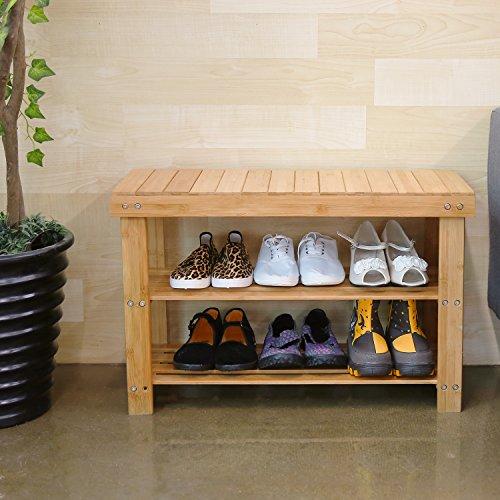 Bambus Schuhregal mit Sitzmöglichkeit @ Amazon