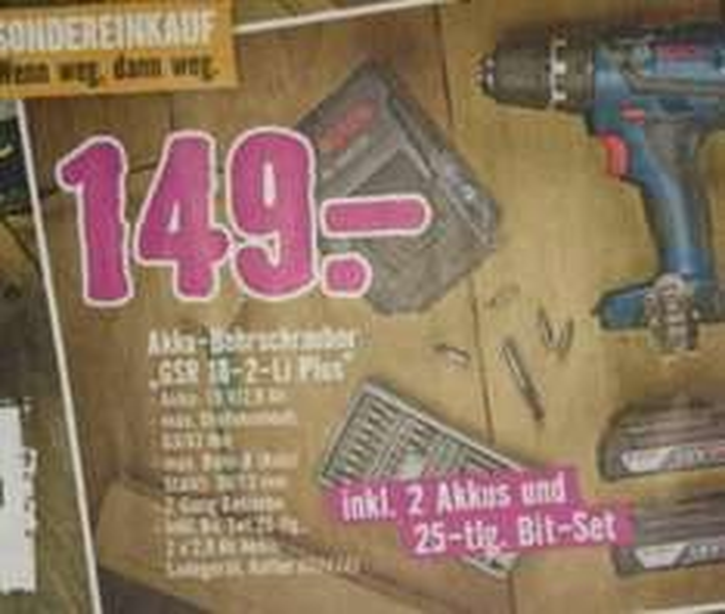 [lokal-Lübeck] Bosch Akku-Bohrschrauber blau GSR 18-2-Li Plus