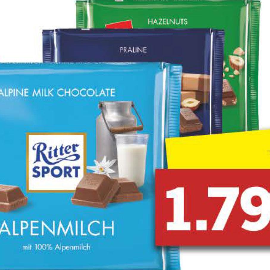 Ritter Sport Schokolade je 250g für nur 1,79€ bei [Lidl]