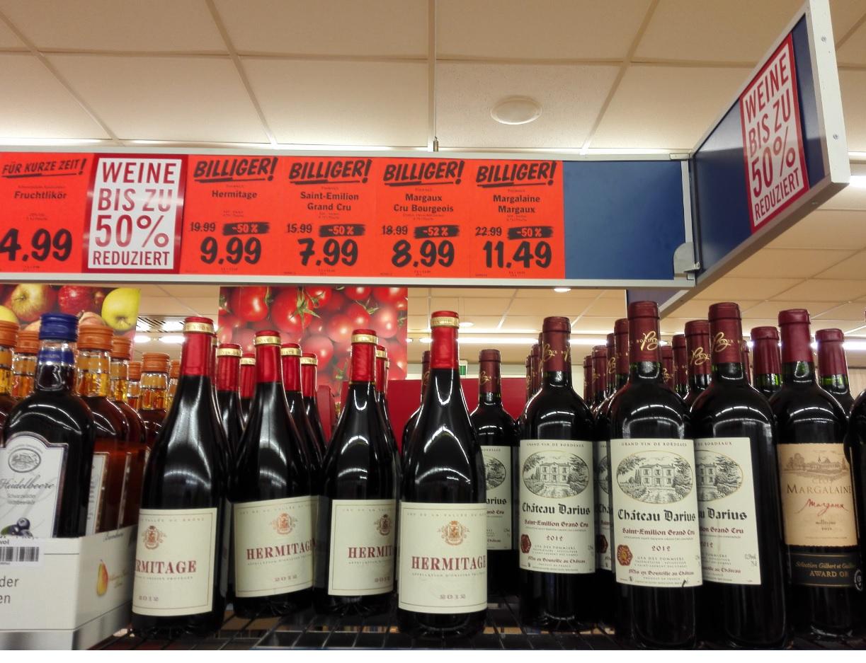 [Lokal] französische Rotweine zum Halbpreis bei Lidl in Rohrbach HD