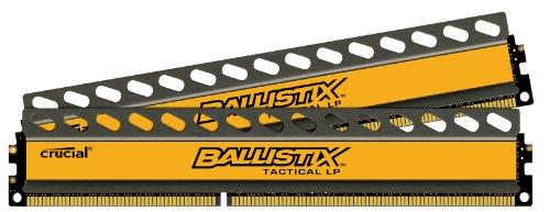 Crucial Ballistix Tactical LP 16GB Kit (8GBx2) DDR3 1600 MT/s (PC3-12800) UDIMM 240-Pin Memory