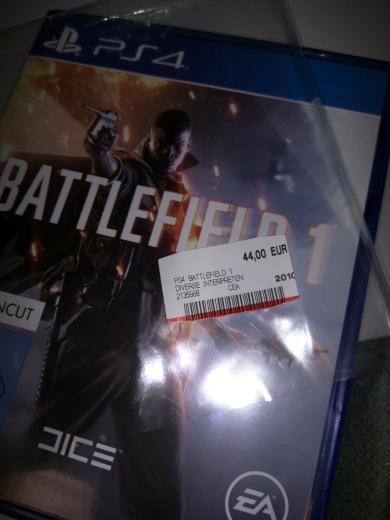 Battlefield 1 44€ Mediamarkt Cottbus