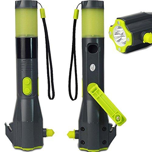 7 in 1 Notfallhammer (z.B. als LED Taschenlampe, Gurtschneider, Kompass, USB Ladegerät, etc.)