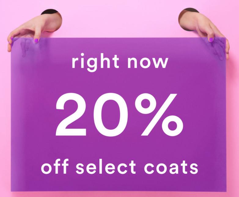 20% Rabatt auf Mäntel, Trenchcoats und Jacken bei Monki