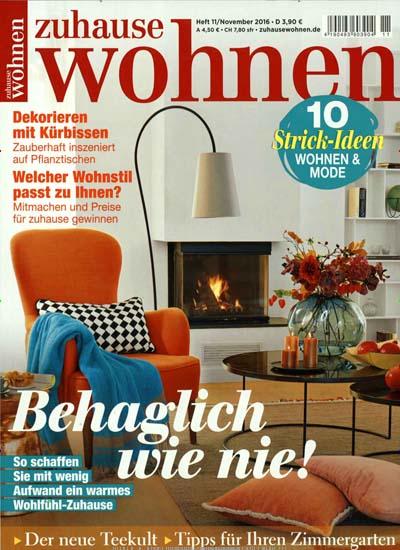 Zuhause Wohnen - Einrichtungsmagazin für 9,95€ im Jahr (12 Ausgaben) statt 50,40€ - Direktpreis und kein Werber nötig