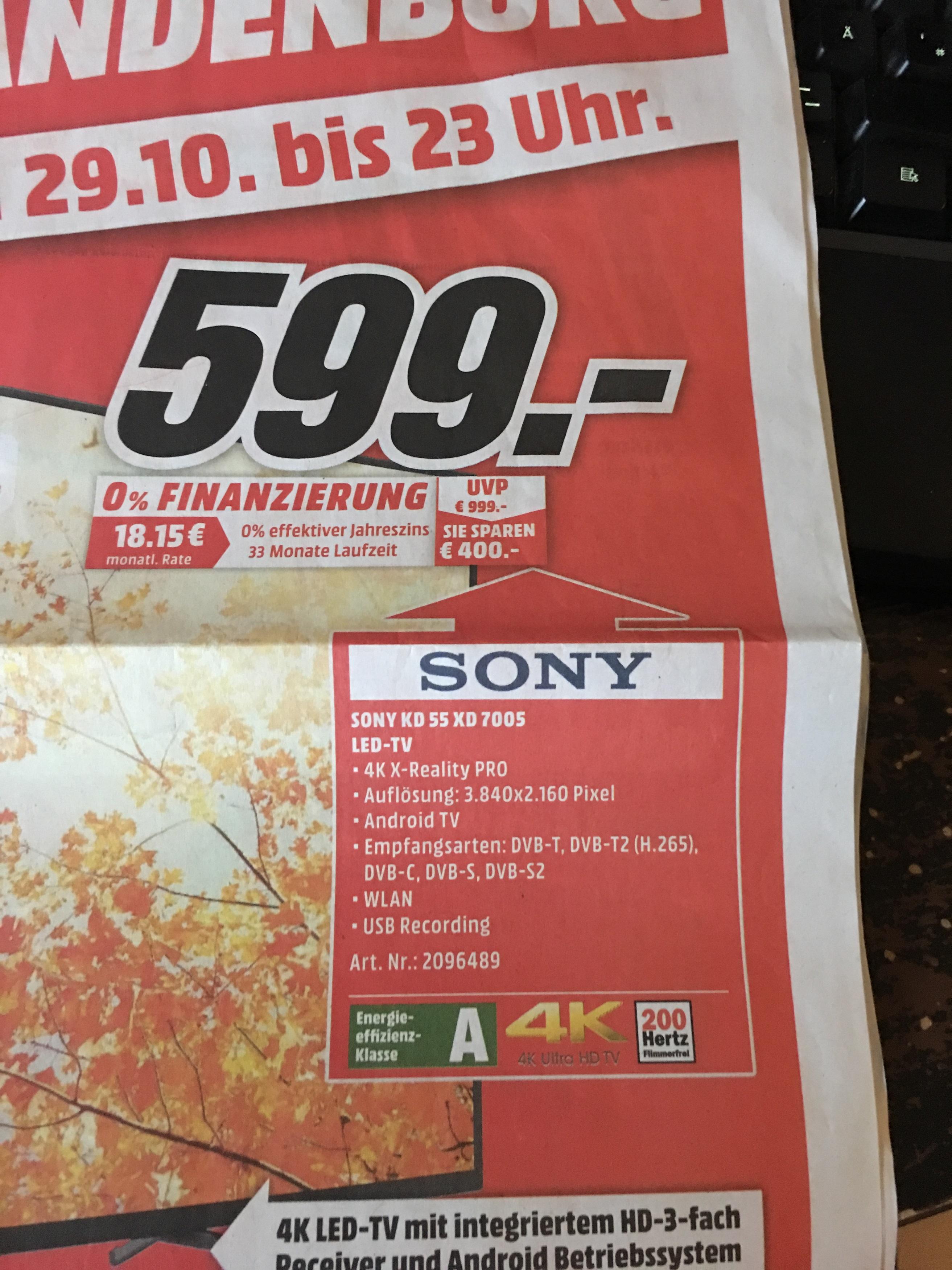 Regional Media Markt Neubrandenburg SONY KD55XD7005 BestBestBestPreis