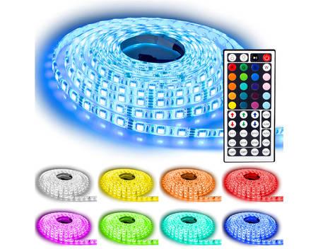 NINETEC LED-Streifen, RGB, 5 m, 60 LED's pro Meter, IP65