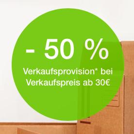 Für ausgewählte eBay-Konten: 50% weniger Verkaufsprovision auf max. 100 eingestellte Artikel, die für mehr als 30 € verkauft werden (bis 03.11.)