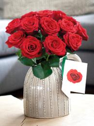 Ein Strauß rote Rosen (12 Stück) für 9,95€ inkl. VSK bei [Bloompost]