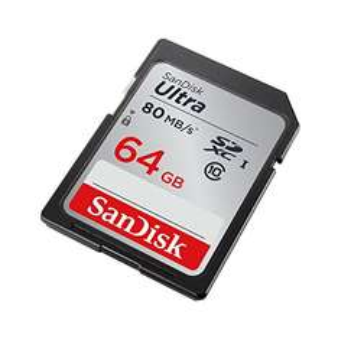 15% sparen: SanDisk Ultra 64GB SDXC bis zu 80 MB/Sek