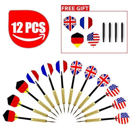 Dart Pfeile im Flaggendesign (12 Stück) für 6,29€ (PVG 7,99€)[Amazon Prime]