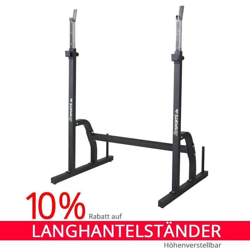 10% Rabatt: Höhenverstellbarer Langhantelständer --> 80,96 € inkl. Versand