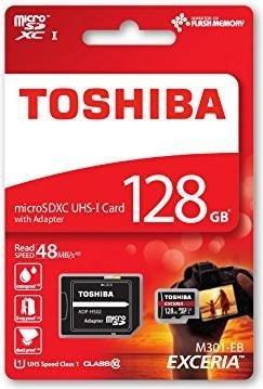 Toshiba Exceria M301-EA microSDXC mit 128GB Class 10 / U1 für 26,41€ [Mymemory]