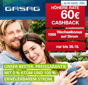 Shoop, 60 Euro Cashback und bis zu 170 Euro Bonus bei Strom Smart und bis zu 110 Euro Bonus bei Gas