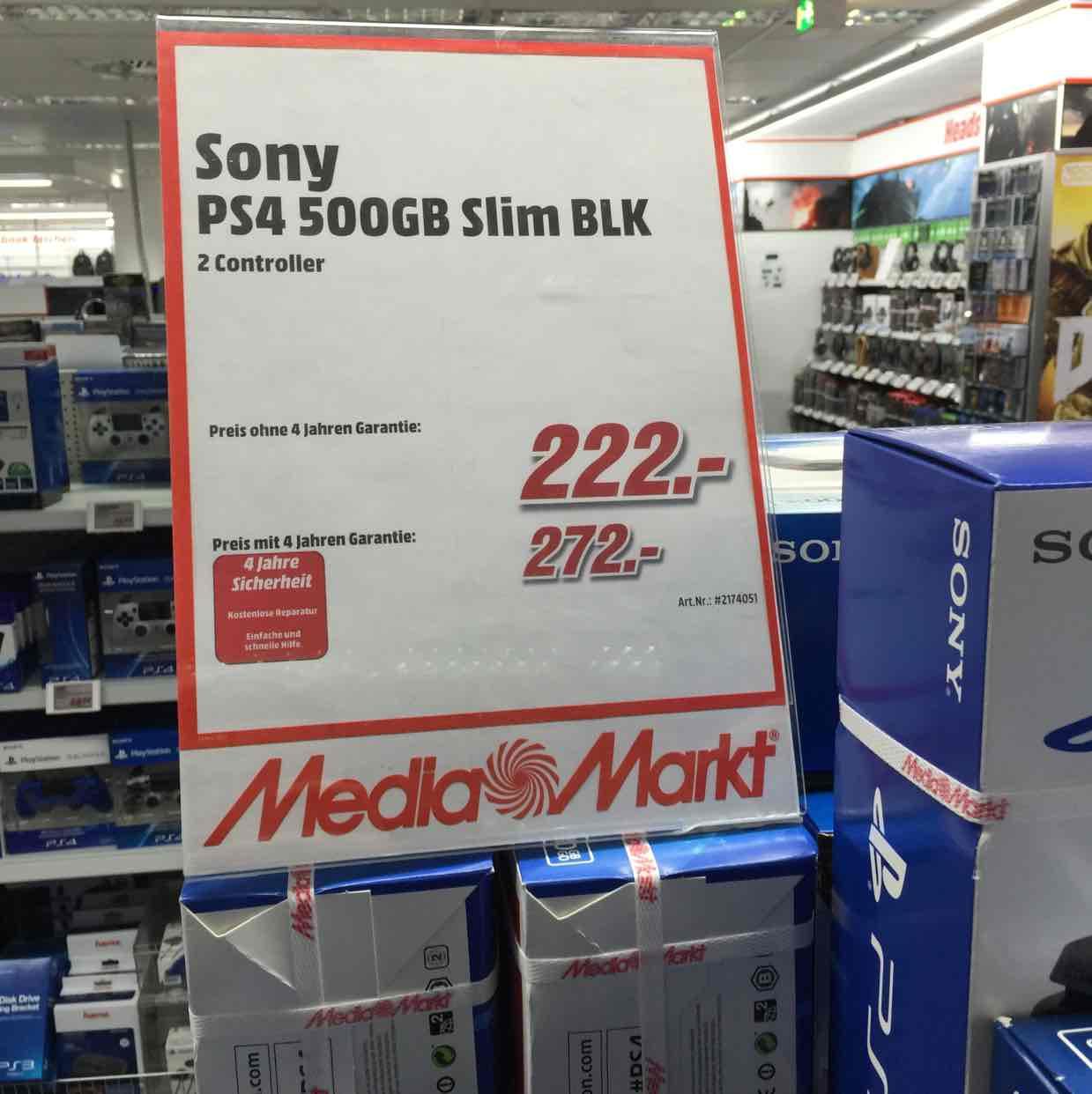 PS4 500GB Slim + 2. Controller [@Mediamarkt Köln]