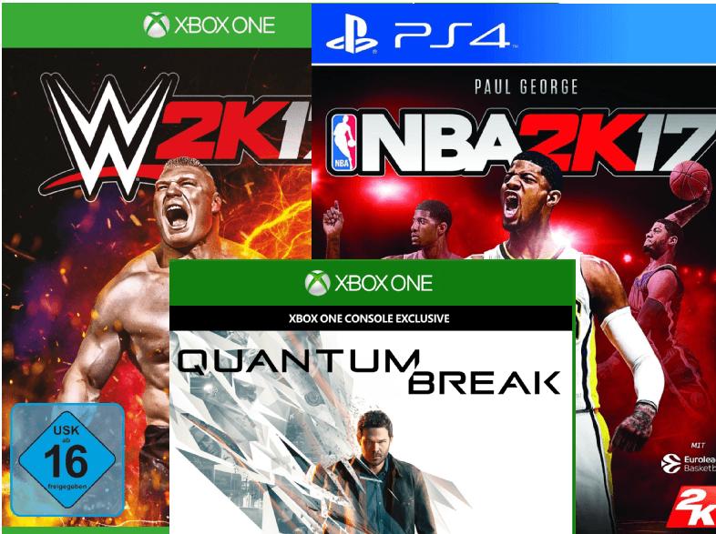 NBA 2K17 oder WWE 2K17 für PS4 und XBox One - je 35€ | Quantum Break - Xbox One für 25 € [Saturn.de]