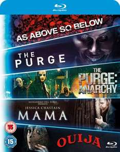 Includues Mama, Purge 1, Purge: Anarchy, OUIJA, As Above, So Below Blu-ray / Zavvi