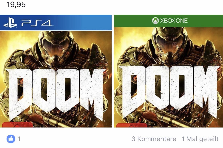 (Lokal) Doom PS4 & Xbox One 19,90 Euro @Michael Kreft Videospiele Bielefeld