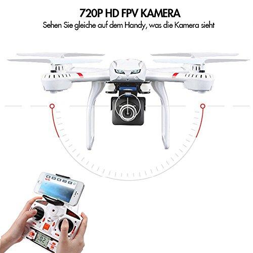 Quadrocopter MJX X101 mit 720P HD Kamera, Live Übertragung, Home-Return & Headless Mode [Amazon]