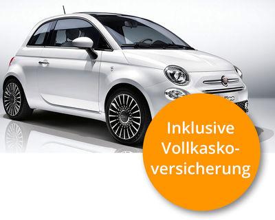 Fiat 500 Lounge 1.2 69 PS 12 Monate Leasing Superflatrate (inkl. Versicherung, Steuer, Wartung etc.) monatlich 232,00€