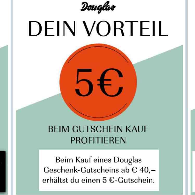 5 EUR Gutschein gratis bei Kauf 40 EUR Gutschein Douglas über shopkick app