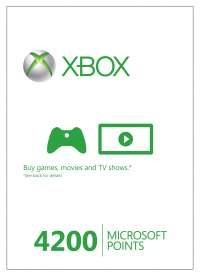 [CDkeys] Xbox Life 4200 Microsoft Points (Xbox 360) - Digital Download - VGP : 50 € - LEIDER AUSVERKAUFT !!