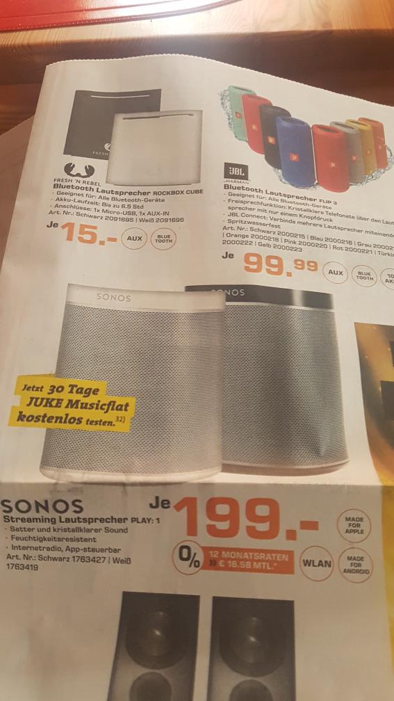Sonos Play:1 199€ Saturn Bremen City ab heute