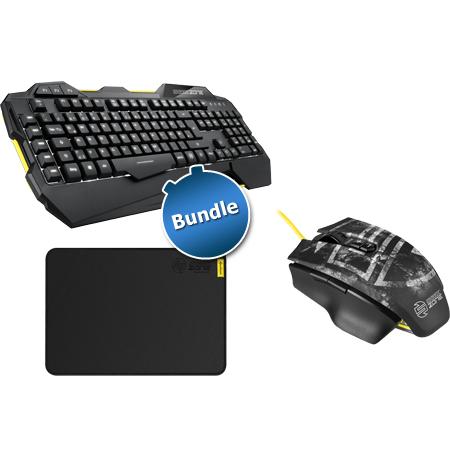 SHARK ZONE-Bundle: Maus, Tastatur und Mauspad @Zackzack