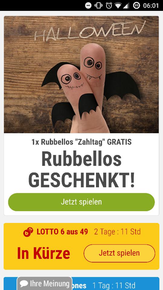Tipp24 Gratis Rubbellos für Bestandskunden
