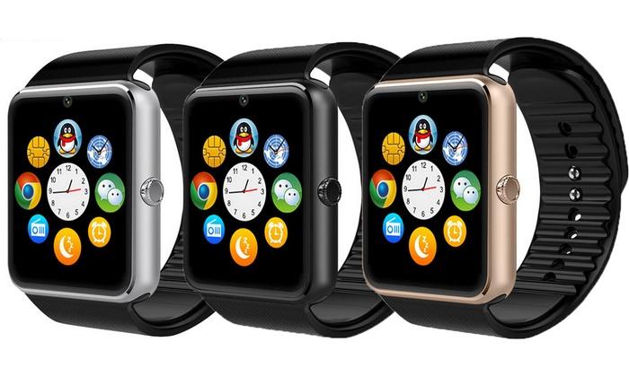 Smartwatch Edelstahlgehäuse Android  IOS inkl. Versand