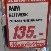 [Lokal Mediamarkt Neu-Ulm] AVM FRITZ!Box 7490 für 135,-€