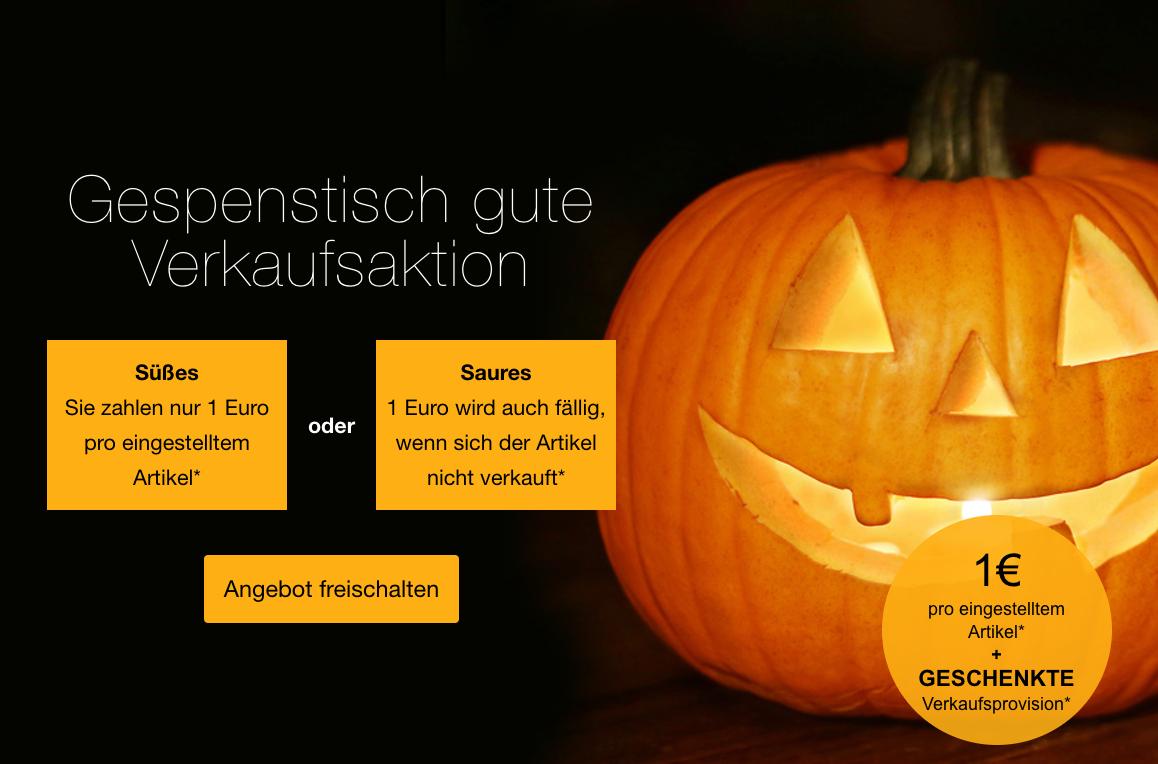 eBay Halloween Aktion (1€ pro eingestelltem Artikel & keine Provision) bis heute 00:00 Uhr!