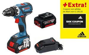 Bosch Blau GSR 18V-EC 2x5Ah Akku Schnellladegerät L-Boxx 100€ Adidas Gutschein