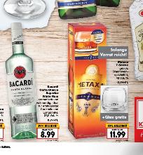 Kaufland ab Donnerstag Metaxa 7 sterne plus Glas 11,99€ und / oder Barcardi White Rum 8,99€ je 0,7L