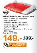 [Lokal Saturn Köln Hansaring ab 02.11] AVM FRITZ!Box 7490, Breitbandrouter mit bis zu 450 Mbit/s und IPv6 Unterstützung für 149,-€