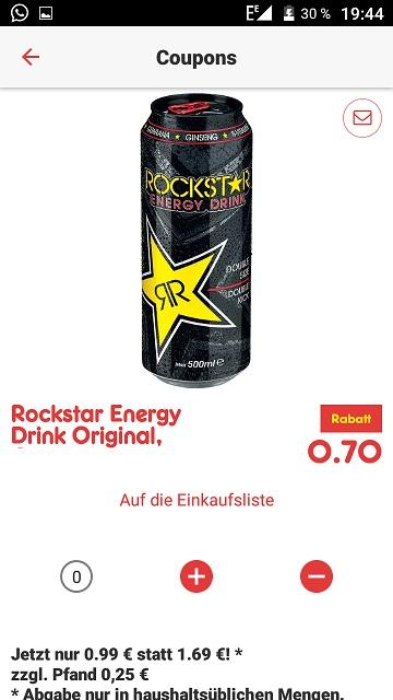 ROCKSTAR ENERGY für 69 Cent (NETTO MD APP + SCONDOO)
