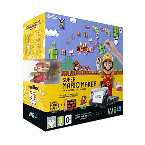 Nintendo Wii U Premium Pack Black + Super Mario Maker (vorinstalliert) + Artbook + amiibo [Amazon] [NEU OVP]