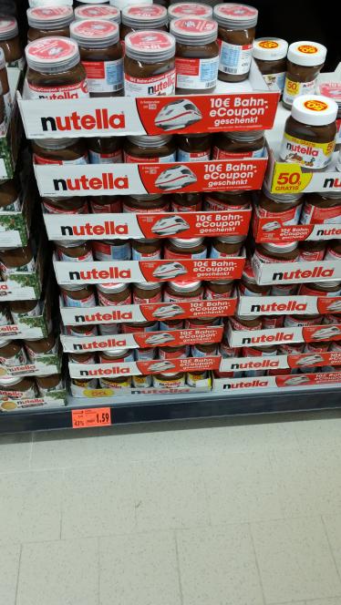 Nutella(450g) Lokal Raunheim 10€ DB-Gutschein
