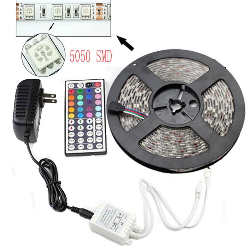 I-Living LED Streifen für 13,10€ / Non Waterproof für 11,43€ ---5M 5050 RGB IP65 Wasserdicht, 44KeyIR Fernbedienung, 3A EU Stecker, IR Empfänger [Aliexpress]