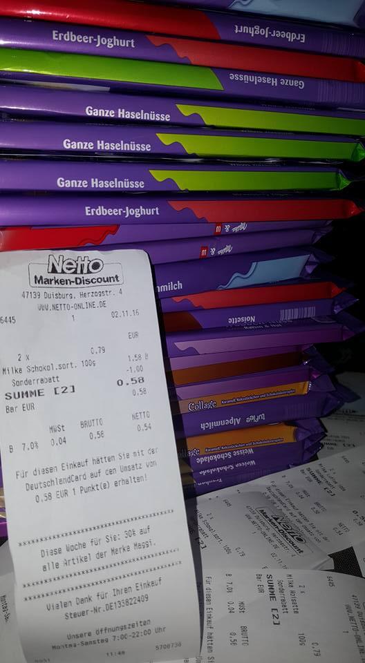 (Gutscheinfehler) Netto 2x Milka (200gr.) Schokolade für 0,58€