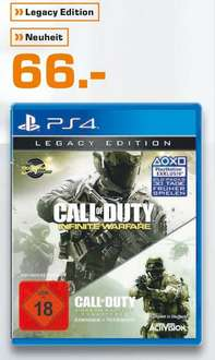 [Lokal Saturn Osnabrück] Call of Duty: Infinite Warfare - Legacy Edition inkl. CoD4 Remaster (PS4) für 66,-€