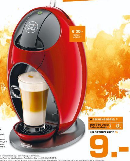 [Lokal Saturn Weimar] DeLonghi EDG 250.R Nescafé Dolce Gusto Jovia Kaffeekapselmaschine (manuell) rot für schlanke 9,-€