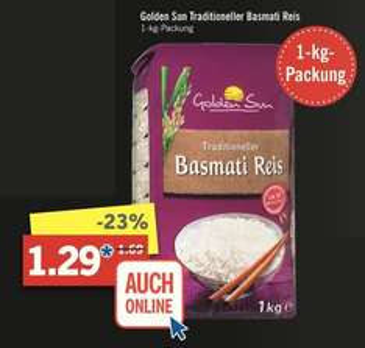 [Lidl am 12.11.] 1 kg Basmati-Reis für 1,29 statt 1,69 Euro