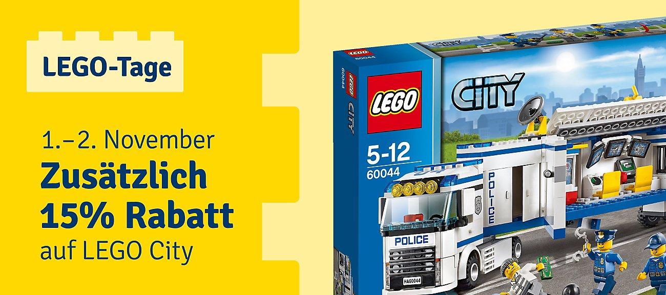 15 % zusätzlicher Rabatt auf Lego City, Creator und Duplo bei Mytoys