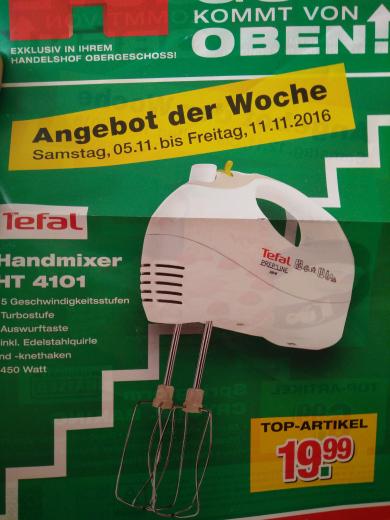 Tefal Handmixer HT 4101 für 23,78€ Im Handelshof