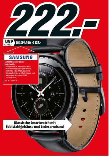 [Lokal Mediamarkt Buchholz-Nordheide ab 03.11 bzw. heute ab 18.00 Uhr] Samsung Gear S2 Classic Smartwatch schwarz für 222,-€ + 50,-€ Bestchoice Gutschein