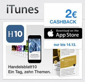 2€ Cashback für Probeabo der Handelsblatt10 App (iOS) via Shoop.de