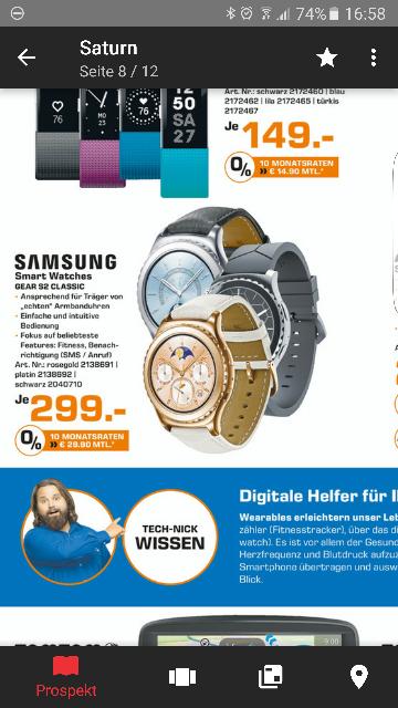 Samsung Gear s2 Classic rosegold und Platin  (Lokal Saturn Oberhausen)